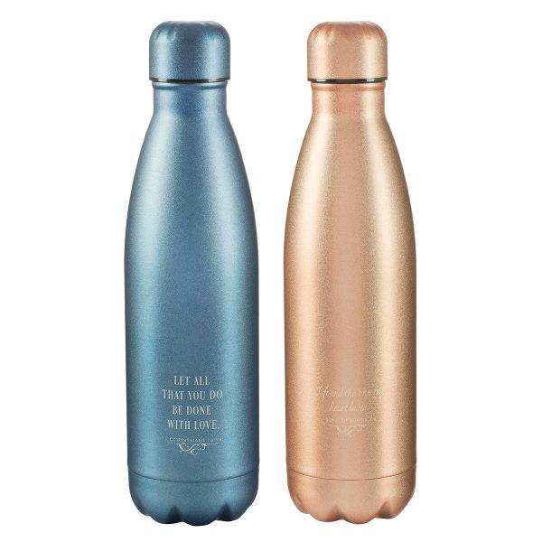Mr & Mrs SS water bottle-5747