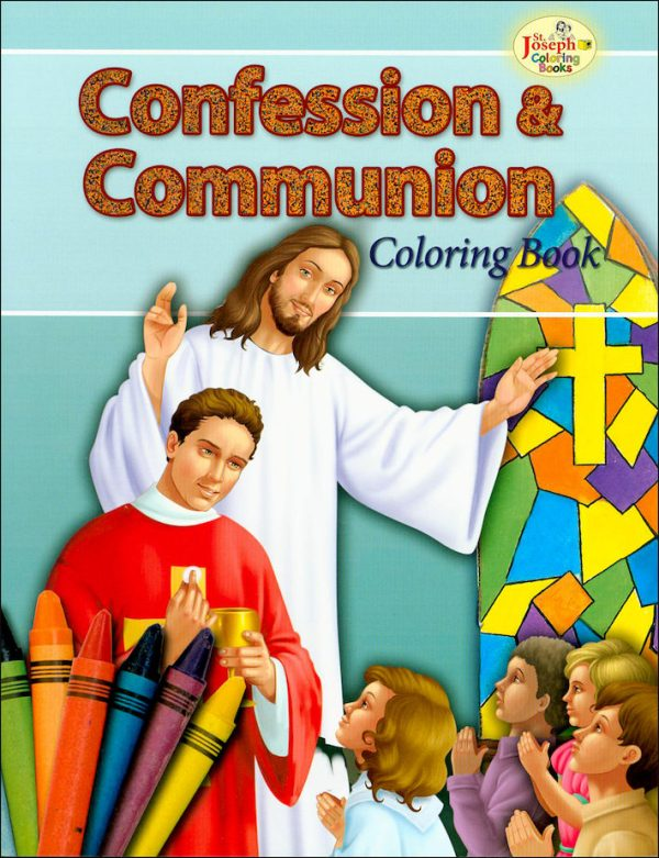CONFESSION AND COMMUNION COLORING BOOK 695-0
