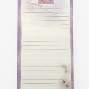 Footprints magnetic notepad-0
