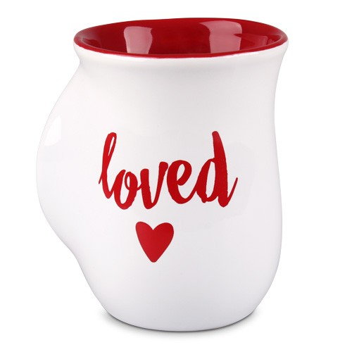 Loved - white handwarmer mug-0