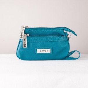 """Trust"" Coin purse vinyl blue-0"
