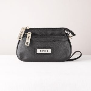 """Trust"" Coin purse vinyl black-0"