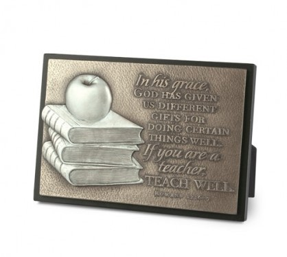 PLAQUE SCULPTURE MOMENTS OF FAITH RECTANGLE TEACHER-0
