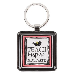 teach, inspire, motivate, keyring-0