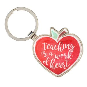 """Teaching is a work of heart"" keyring-0"