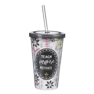 """Teach, Inspire, Motivate"" Cup-0"
